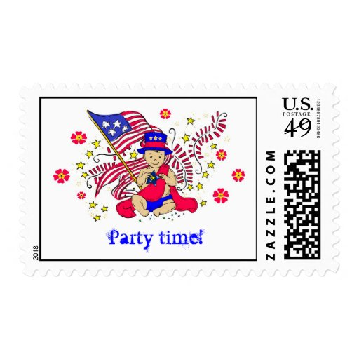 4th of July - Independence day Postage Stamp