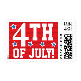 4th of july independence day postage stamps