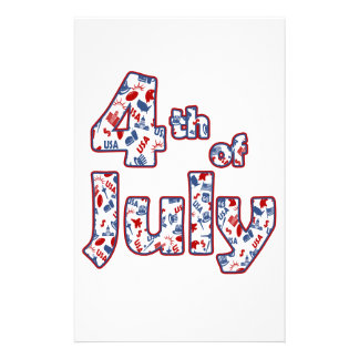 4th of July Independence Day Stationery