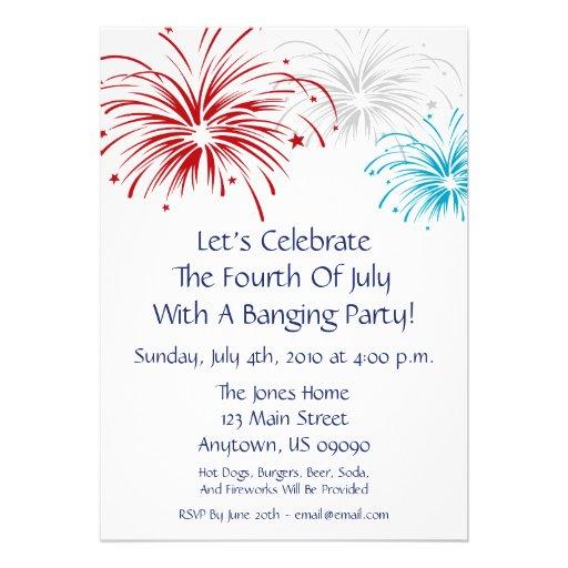 Fourth Of July Wedding Invitations 4th Of July Invitation