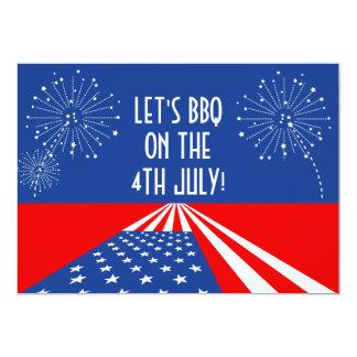 4th of July Invitation / USA Invitation - Custom