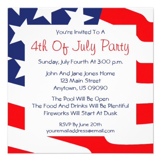 4th Of July Bbq Background 4th of july invitations