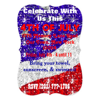 4th of July Invitations - Customizable - Events