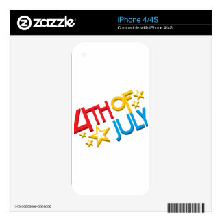 4th of July iPhone 4S Skins