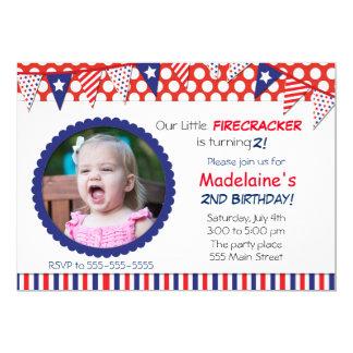 4th of July Kids Birthday Party Invitation