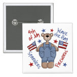 4th Of July Kids Patriotic Button