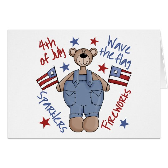 4th Of July Kids Patriotic Greeting Card