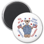 4th Of July Kids Patriotic Magnet