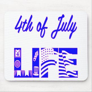 4th Of July Life FB.com/USAPatriotGraphics © Mouse Pad