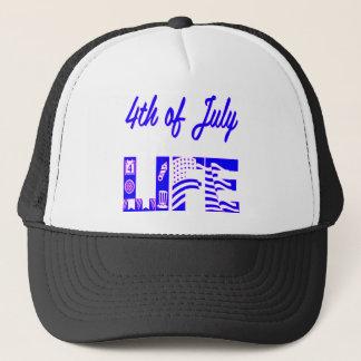 4th Of July Life FB.com/USAPatriotGraphics © Trucker Hat