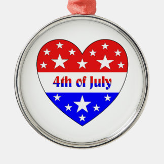 4th of July Metal Ornament