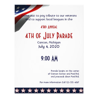 4th of July Modern Stars and Stripes Forever Flag Flyer