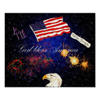 4th of July montage Poster