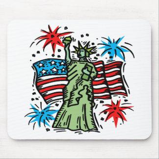 4th of July Mousepad:  Lady Liberty