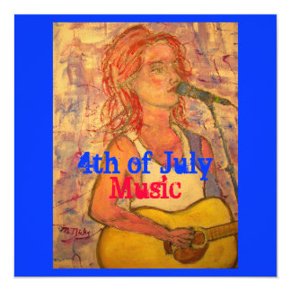 4th of July Music Card