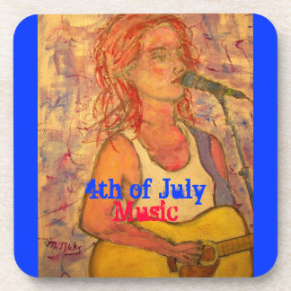 4th of July Music Drink Coaster
