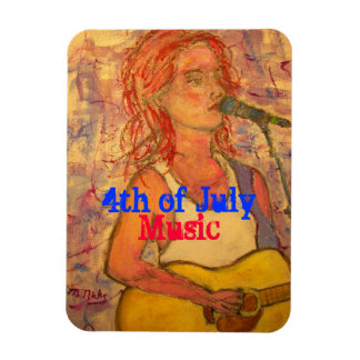 4th of July Music Magnet