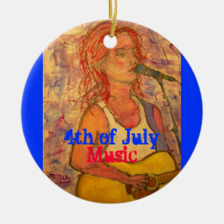 4th of July Music Ornaments