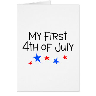 4th of July My First 4th of July (Stars) Greeting Card