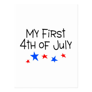 4th of July My First 4th of July (Stars) Postcard