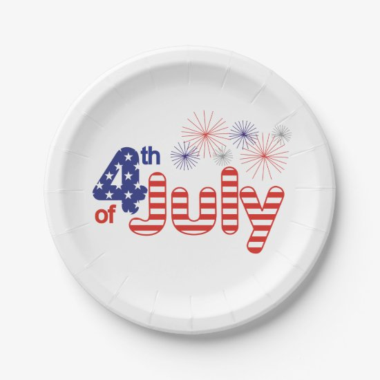 4th of July Paper Plates
