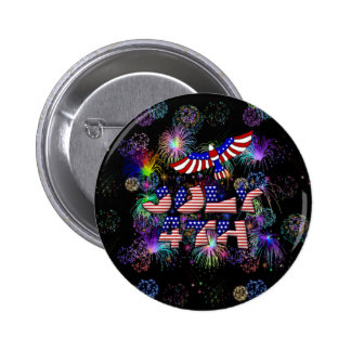 4th of July Party 2 Inch Round Button