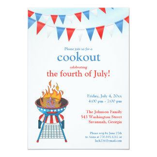 4th of July Party BBQ Invitation