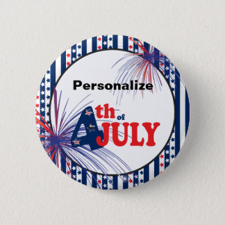 4th of July Party Celebration Button