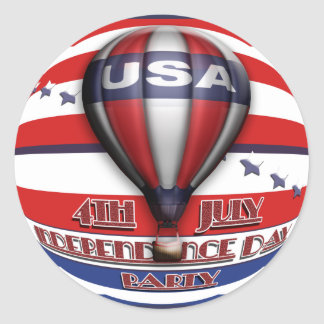 4th of July party  Classic Round Sticker