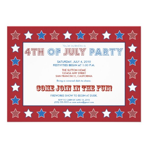 Free Printable 4Th Of July Invitations as best invitation example