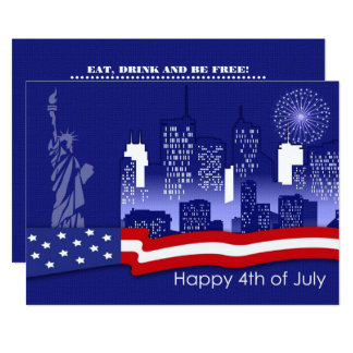 4th of July Party   Event Custom Invitation Cards