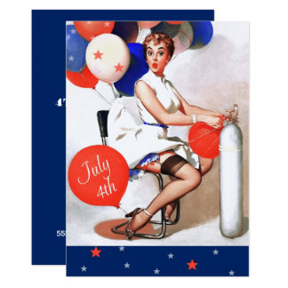 4th of July Party | Event Pin-Up Design Invitation
