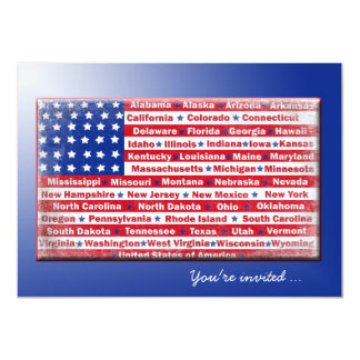 4th of July Party Flag Card