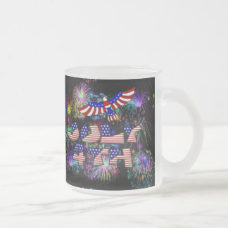 4th of July Party Frosted Glass Coffee Mug