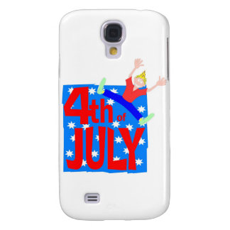 4th of July party guy Galaxy S4 Cases