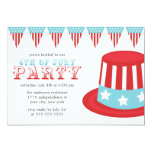 "4th of July Party Invitation 5"" X 7"" Invitation Card"