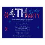 "4th of July Party Invitation 4.25"" X 5.5"" Invitation Card"