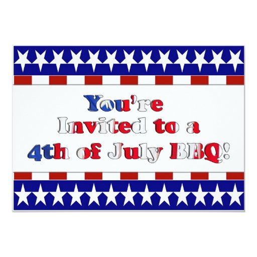 4th of July Party  Invitation (Independence Day)