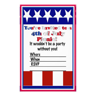 4th of July Party Invitation Stationery