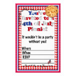 4th of July Party Invitation Stationery Paper