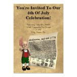 "4th of July Party Invitations 5"" X 7"" Invitation Card"