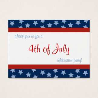 4th of July Party Invite Profile Card