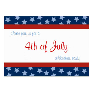 4th of July Party Invite Profile Card Large Business Card
