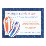 "4th of July Party Patriotic Flip Flops Invitations 5"" X 7"" Invitation Card"