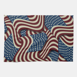 4TH Of July Party Red White And Blue American Flag Hand Towels
