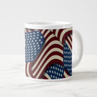 4TH Of July Party Red White And Blue American Flag Large Coffee Mug