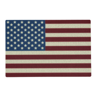 4TH Of July Party Red White And Blue American Flag Placemat