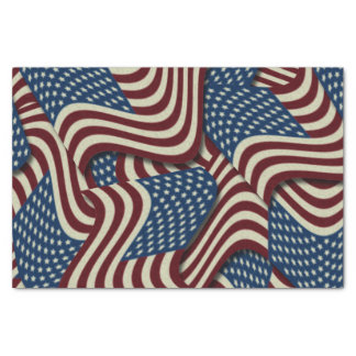 4TH Of July Party Red White And Blue American Flag Tissue Paper