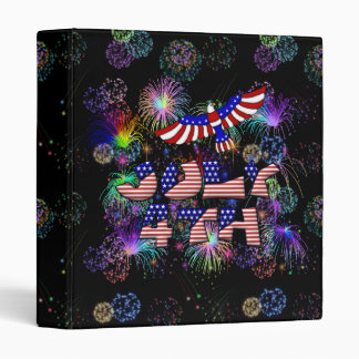 4th of July Party Vinyl Binder