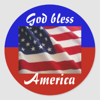 4th of July Patriot Classic Round Sticker